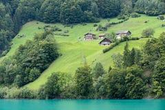 SACHSELN SWITZERLAND/EUROPA, WRZESIEŃ 22, -: Widoków domy along Obrazy Royalty Free