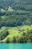 SACHSELN SWITZERLAND/EUROPA, WRZESIEŃ 22, -: Widoków domy along Zdjęcia Stock