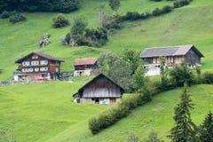 SACHSELN SWITZERLAND/EUROPA, WRZESIEŃ 22, -: Widoków domy along Obraz Royalty Free
