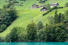 SACHSELN SWITZERLAND/EUROPA, WRZESIEŃ 22, -: Widoków domy along Obraz Stock