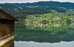 SACHSELN SWITZERLAND/EUROPA, WRZESIEŃ 22, -: Widok Sarner Zdjęcie Royalty Free