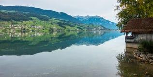 SACHSELN SWITZERLAND/EUROPA, WRZESIEŃ 22, -: Widok Sarner Obrazy Royalty Free