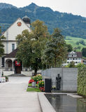 SACHSELN SWITZERLAND/EUROPA, WRZESIEŃ 22, -: Widok St Theodu Zdjęcia Stock