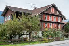 SACHSELN, SWITZERLAND/ EUROPE - SEPTEMBER 22:  Swiss chalet in S Royalty Free Stock Images
