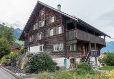 SACHSELN, SWITZERLAND/ EUROPE - SEPTEMBER 22:  Swiss chalet in S Royalty Free Stock Photography