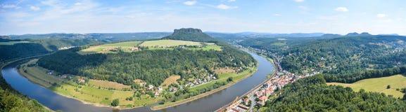 Sachsen Schweiz panorama Arkivbild