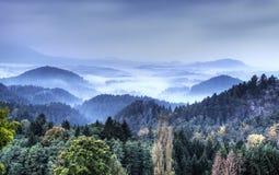 Sachsen Schweiz parkerar Arkivbild