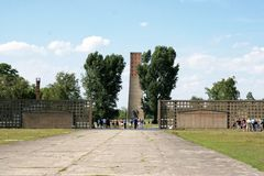 Sachsenhausen-Oranienburg concentration camp Stock Images
