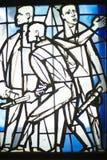 Finestra di vetro al campo di concentramento Immagine Stock Libera da Diritti