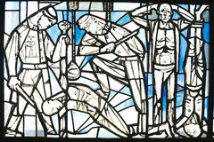 Kulör glass minnesmärke för Sachsenhausen koncentrationsläger Royaltyfria Bilder