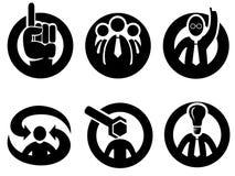 Sachverständigengutachten-, Entscheidungs- oder Spitzeikonen Lizenzfreies Stockbild