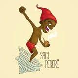 Saci Perere, one-legged rowdy boy vector illustration