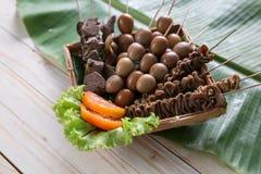 Saciar jeroan Culinária tradicional indonésia Foto de Stock Royalty Free