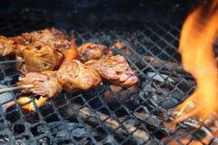Saciar no BBQ ou na grade Imagem de Stock