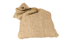 Sack. Isolated bag on the white background royalty free stock images