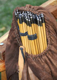 Sack of Arrows. Sack of Vintage Replica Arrows for Target Shooting Royalty Free Stock Photos