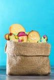 Sack bag of Christmas cookies Royalty Free Stock Image