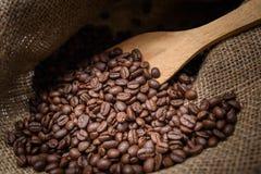 Sack bag with coffee arabica Royalty Free Stock Photo