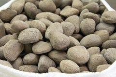 Sack of Buah Keluak Nuts Royalty Free Stock Photo