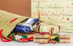 A Sack of Christmas Gifts Royalty Free Stock Image