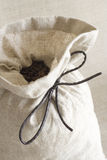 Sack of cofee. The small sack of cofee Stock Photography
