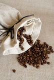 Sack of coffee. The small sack of coffee Royalty Free Stock Image