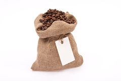 Sack with coffee bean Stock Photography