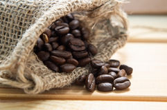Sack of Coffee Beans Royalty Free Stock Images