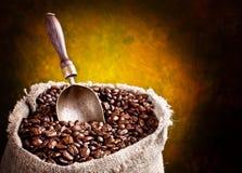 Sack of coffee beans Stock Photos