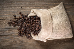 Sack with coffee beans Royalty Free Stock Photography