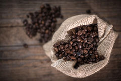 Sack with coffee beans Stock Photography