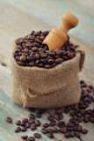 Sack of coffee beans Stock Image