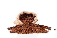 The sack of coffee beans Royalty Free Stock Photography