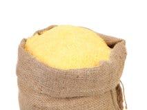 Sack with corn flour. Royalty Free Stock Photos
