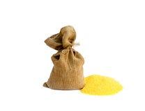 Sack with corn grain Royalty Free Stock Photo