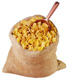 SACK OF CORNFLAKES CUT OUT stock photos