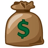 A sack of dollar. With dollar logo Stock Photography