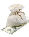 Sack of dollars Stock Photography