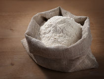 A sack of flour on the board Stock Photo