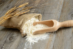 Sack of flour Royalty Free Stock Photography