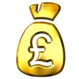 Sack full of British pounds Royalty Free Stock Photos