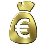 Sack Full of Euros Royalty Free Stock Photos