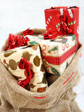 An sack full of gifts. Stock Photography