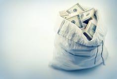 Sack full of money dollars Stock Images