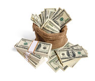 Sack full of money Royalty Free Stock Images