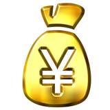 Sack full of Yen Stock Photos