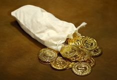 Sack of Gold Royalty Free Stock Photos