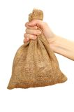 Sack in the hand Stock Photography