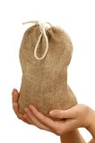 Sack in the hands Stock Photo
