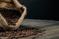 Sack Kaffeebohnen Stockfoto